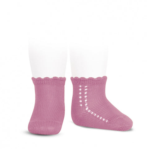 Crochet Ankle Sock - Hot Pink