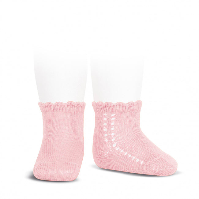 Crochet Ankle Sock - Light Pink