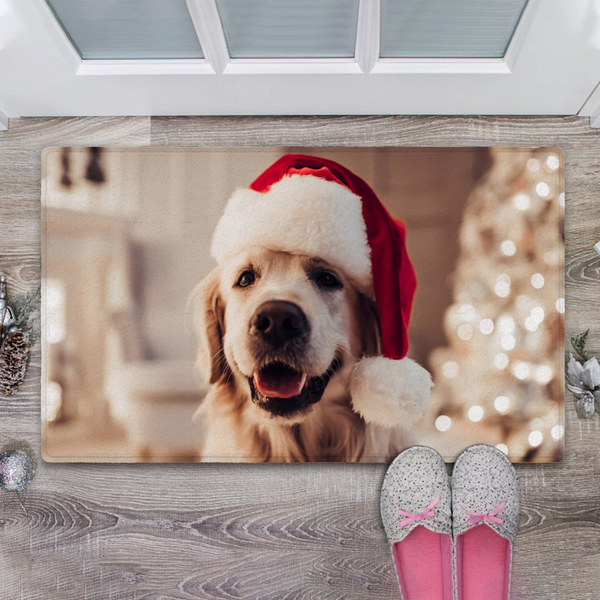 US Custom Dog Photo Rug Or Picture Doormat-Christmas Doormat