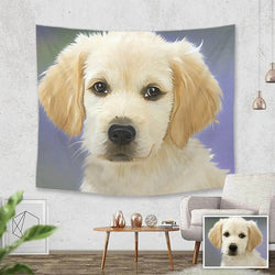 Custom Pets Photo Tapestry Short Plush Wall Decor Hanging Painting