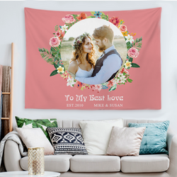 Custom Wedding Photo Tapestry For Love Hanging Painting