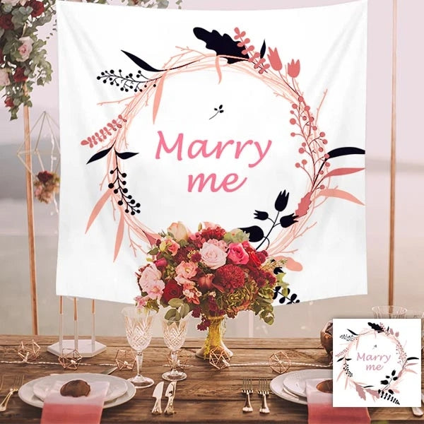 Custom Marry Photo Tapestry Short Plush Wall Decor Hanging Painting