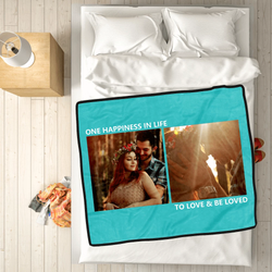 personalized family photo cover whole love fleece custom blanket