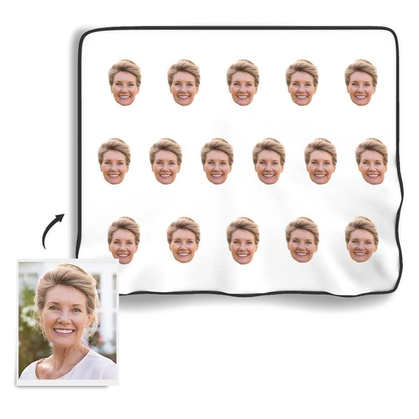 Personalized Face Colorful Fleece Blanket