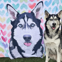 Custom Blankets Personalized Photo Blankets Painted Art Portrait Fleece Blanket