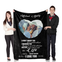 "Customize Wedding Blanket ""Destiny Made Us Couple"""