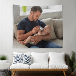 Custom Baby Photo Tapestry Short Plush Wall Decor Hanging Painting-Father's day gift