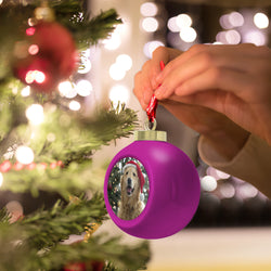 Classic First Christmas Light Up Ornament With Your Photo