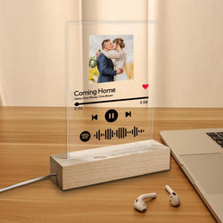 Best Seller Custom Spotify Code Music Plaque Glass Lamp(5.9in x 7.7in)