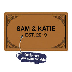 Custom Last Name Doormat-Personalized Welcome Door Mat with Your Name