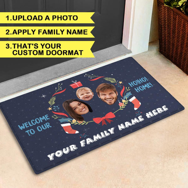 Customize Family Rug With Your Family's Photo And Name Doormat