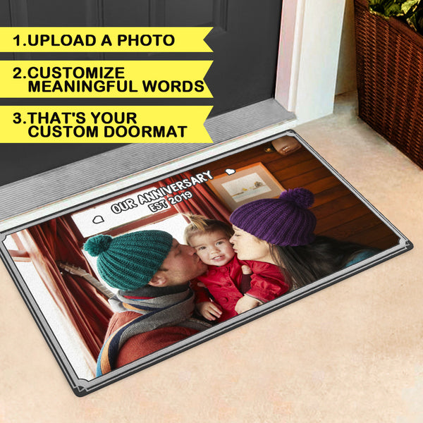 Custom Family Photo Door mat Or Picture Rug-Indoor Or Outdoor Door mats