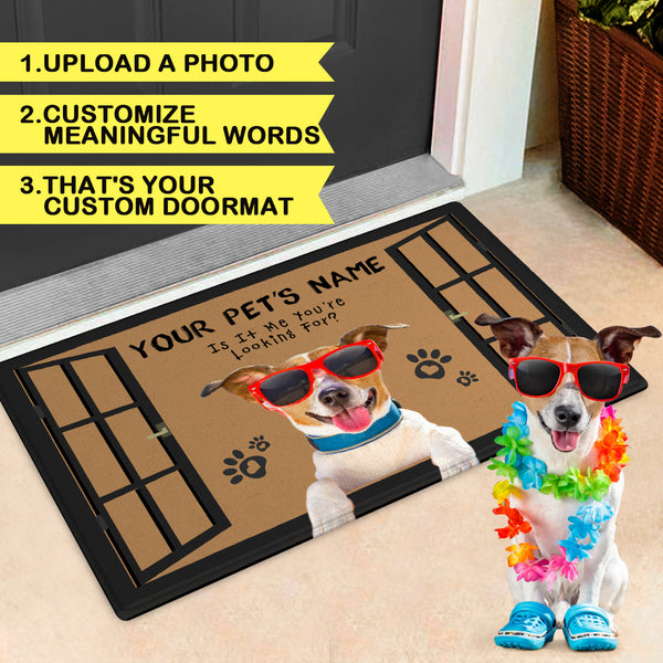 Custom Funny Pet Doormat-Welcome Door mat With Your Pet's Photo And Name