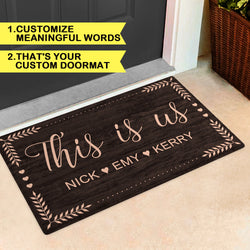 Custom Family Member Name Rug-Personalized Welcome Door Mat