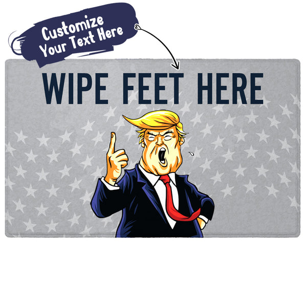 Custom Dump Trump Novelty Doormat With Your Funny Text