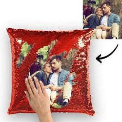 Photo Magic Sequins Pillowcase Red Sequin Cushion Best Gifts 15.75inch * 15.75inch