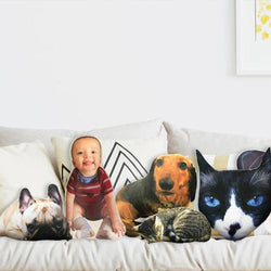 Custom Pet Photo Pillow Custom Pet Face Pillow