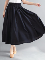 Winter Ankle Length Autumn Vintage Long Skirts