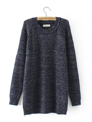 Women Winter O-neck Autumn Casual Hollow Sweater Plus Size Sweaters & Cardigans