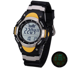 SUNROAD FR718A Fashion LED Digital Fishing Barometer Watch with Altimeter Thermometer Date and Rubbe