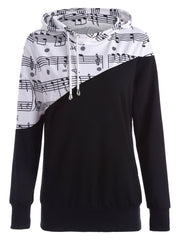 Music Note Two Tone Hoodie