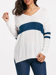 Striped Asymmetric Sweater