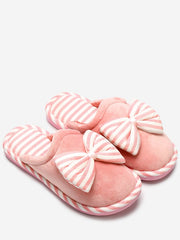 Bowknot Sweet Warm Bedroom Slippers