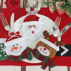 3Pcs Christmas Table Decoration Knives And Forks Bags