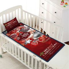 Christmas Ball Letter Print Children Bed Matting with Pillow Case