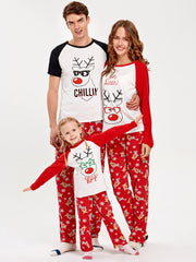 Rudolph Deer Matching Family Christmas Pajama Set