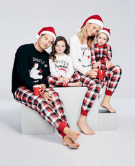 Bear Tartan Family Christmas Pajama Set