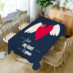 From My Heart to Yours Waterproof Table Cloth