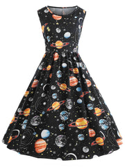 Planet Outer Space Vintage Dress