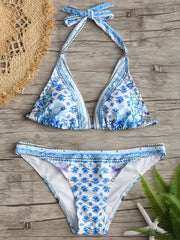 Floral Micro Low Waisted Bikini Set