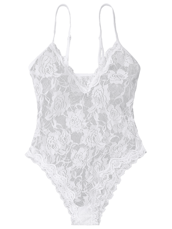 See Through Cami Lace Teddy