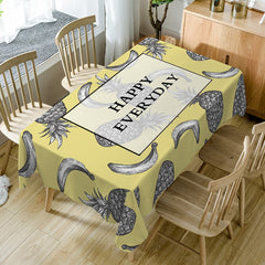 Happy Everyday Fruits Print Waterproof Dining Table Cloth