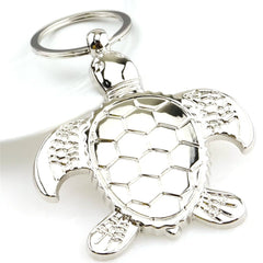 Personality Metal Turtle Charms Pendant Key Chains Silver Fashion Jewelry Creative Animal Keychain