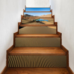 Desert and Lake Pattern Stair Stickers