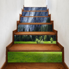Trees Meadow Cliff Decorative Stair Stickers