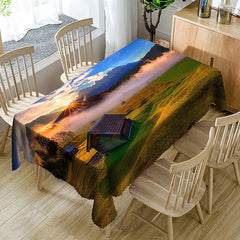 Grassland House Printed Waterproof Table Cloth
