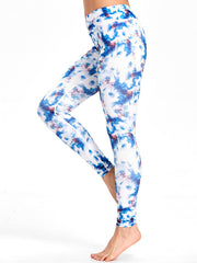 Tie Dyed Print Workout Leggings