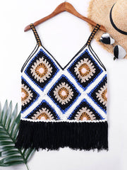 Crochet Fringe Cover Up Top