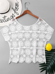Crochet Hollow Out Cover Up Top