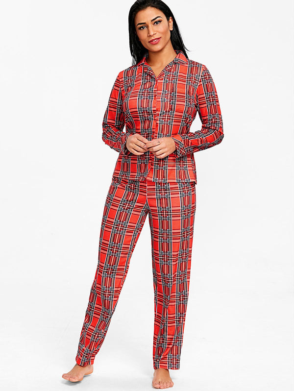 Scottish Plaid Sleepwear Set