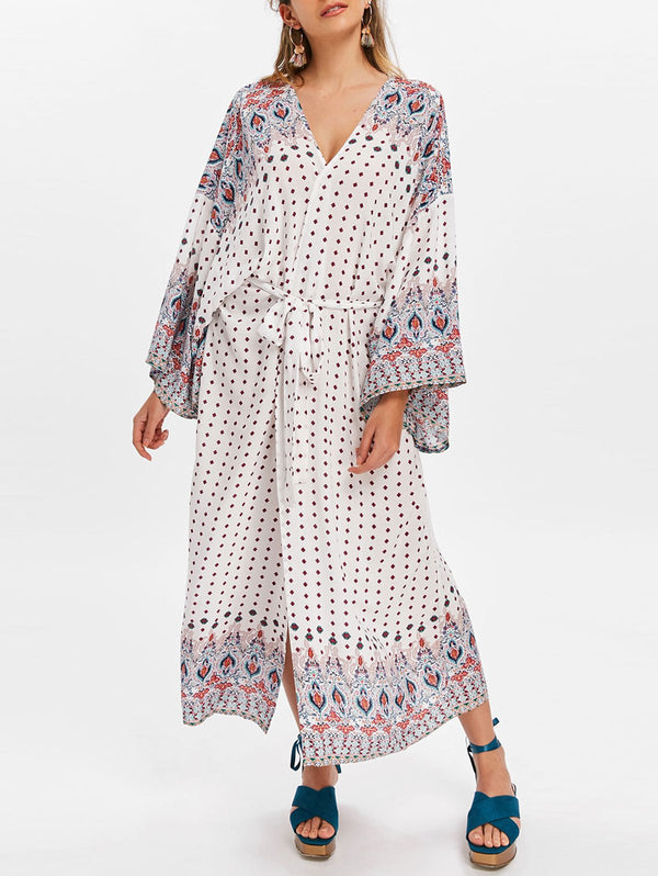 Bandana Floral Printed Cover Up Dress