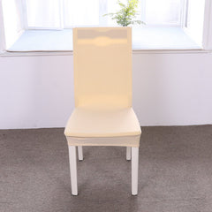 Concise Siamesed Chair Cover of Pure Color for Common Use