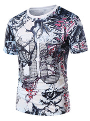 Leaves Goddess Print Casual T-shirt