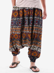 Ethnic Geometric Print Casual Harem Pants