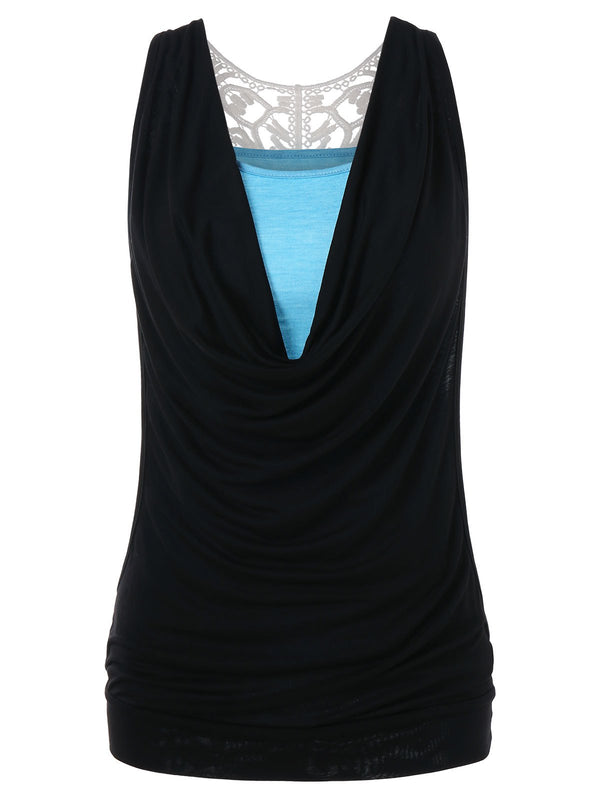 Cut Out Panel Tank Top