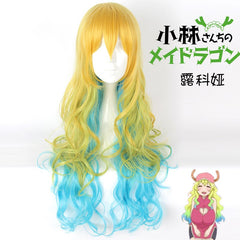 (Miss Kobayashi's Dragon Maid Lucoa) Multicolor Cosplay Wig